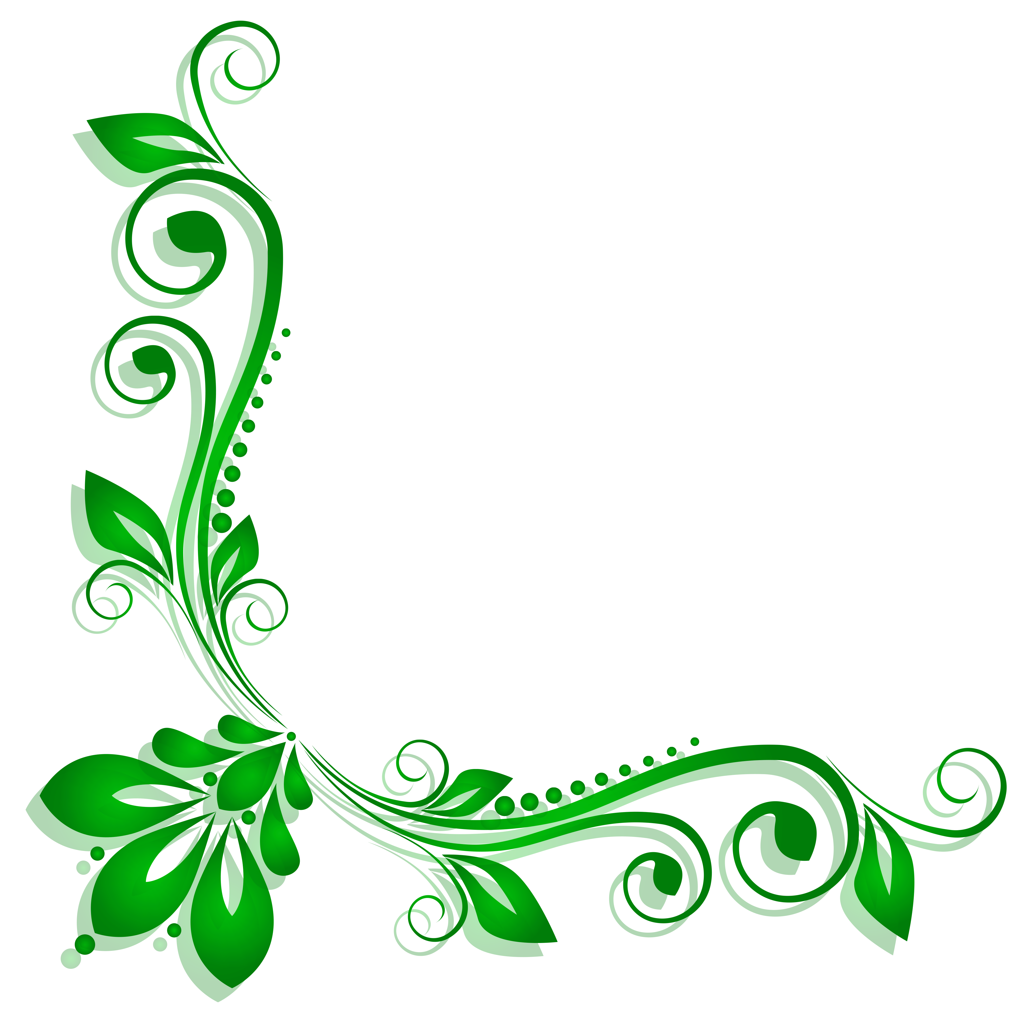 Deco clipart. Green floral png gallery