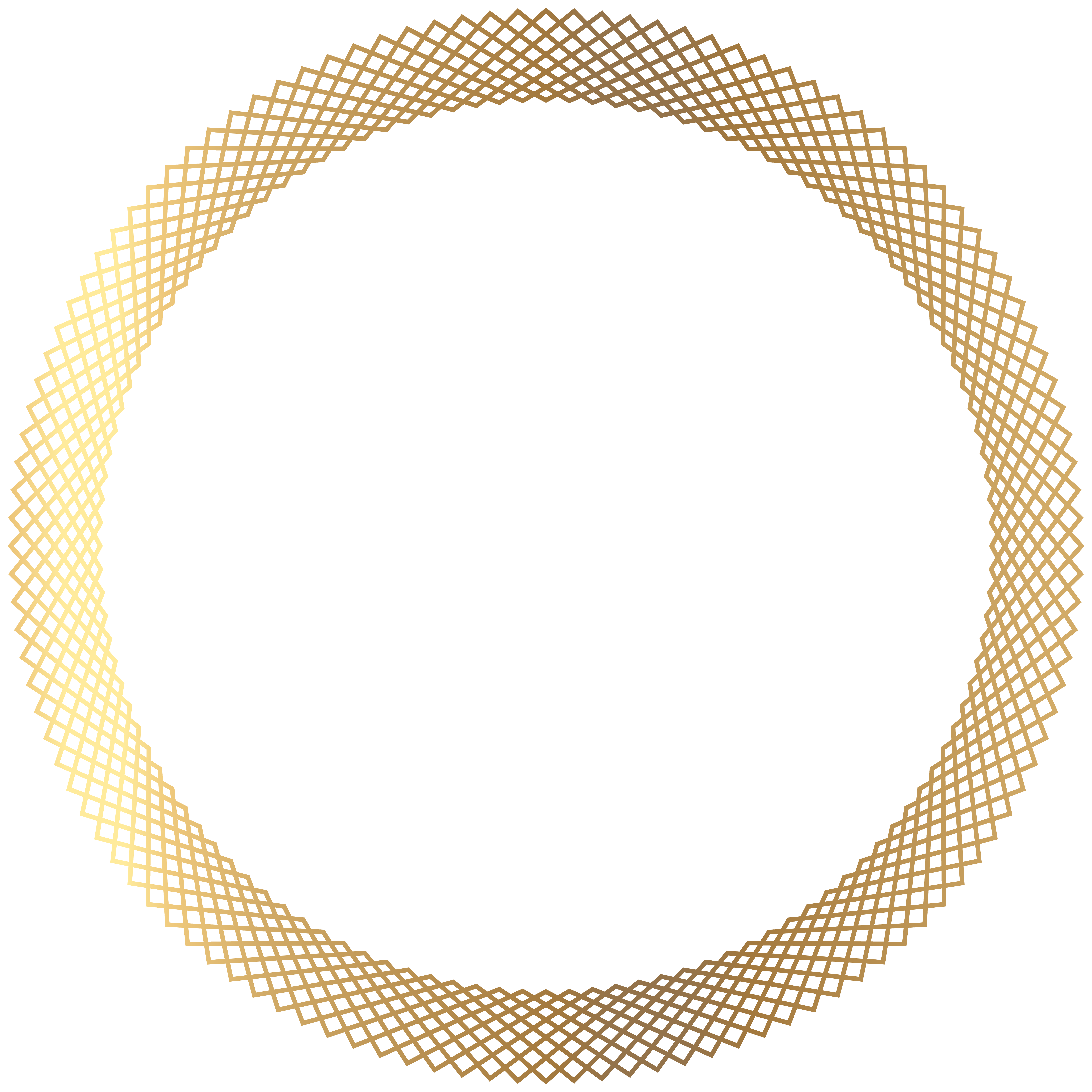 Deco clipart round. Gold border png transparent
