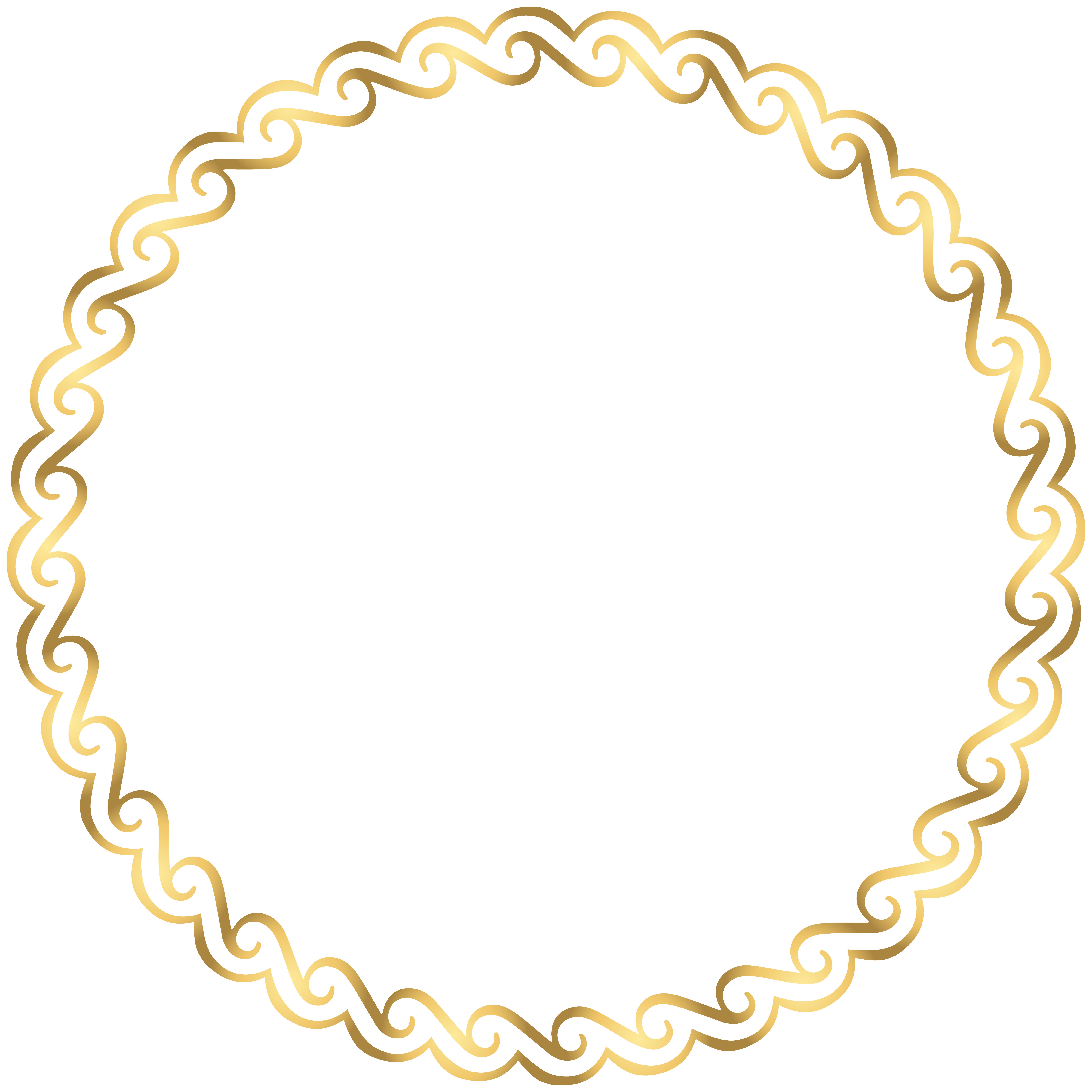 Deco clipart round. Border frame png clip