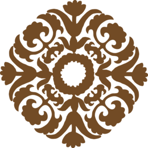 Decor vector brown. Diamond flower clip art