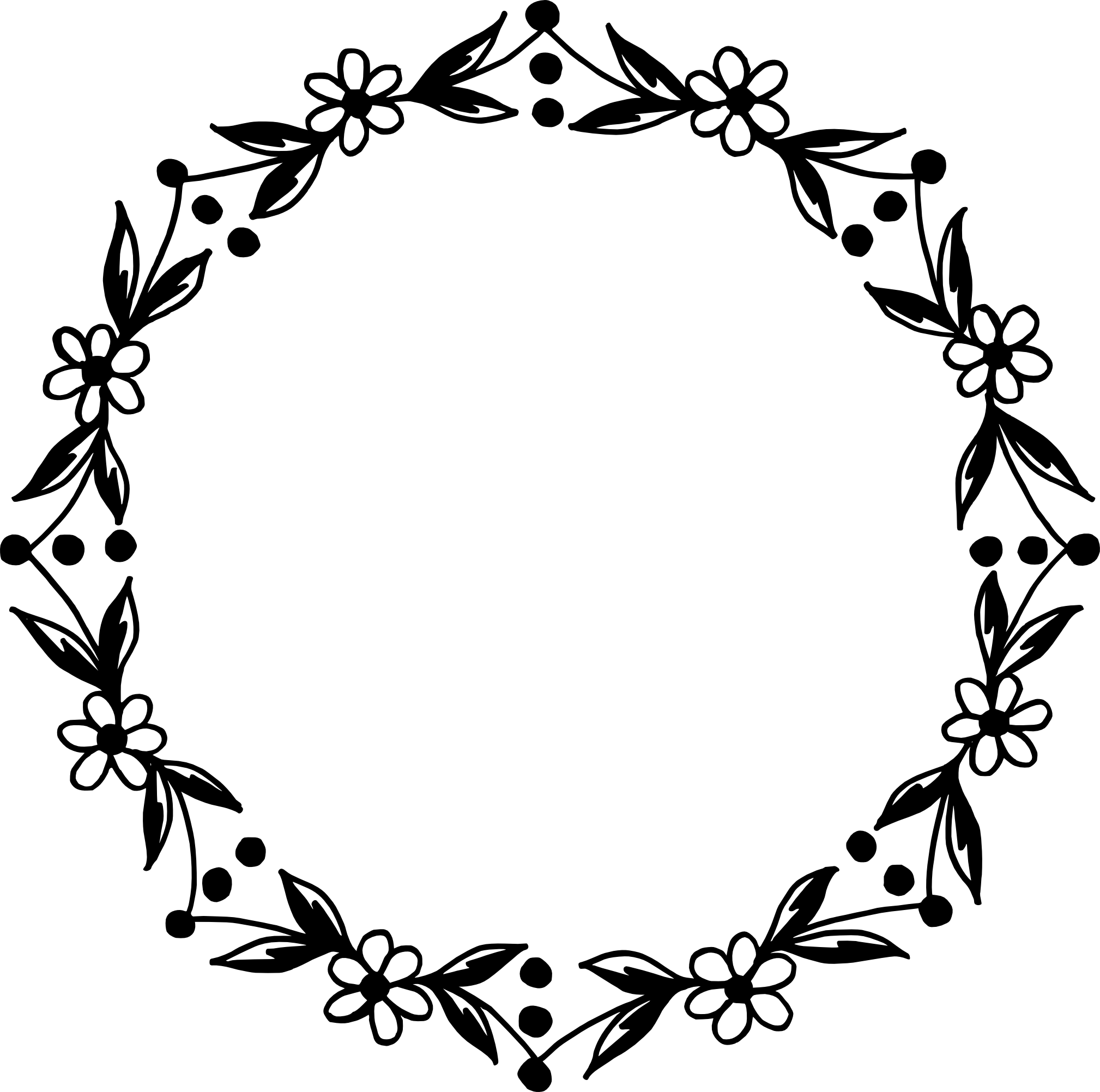 Decor vector circle. Floral frame png