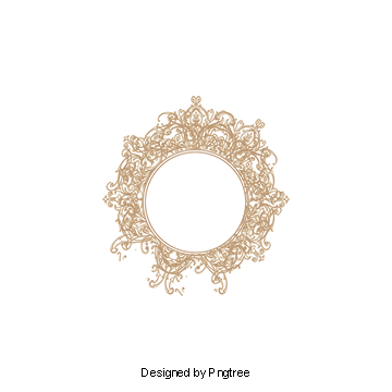 Decor vector ornate mirror. Round frame png vectors