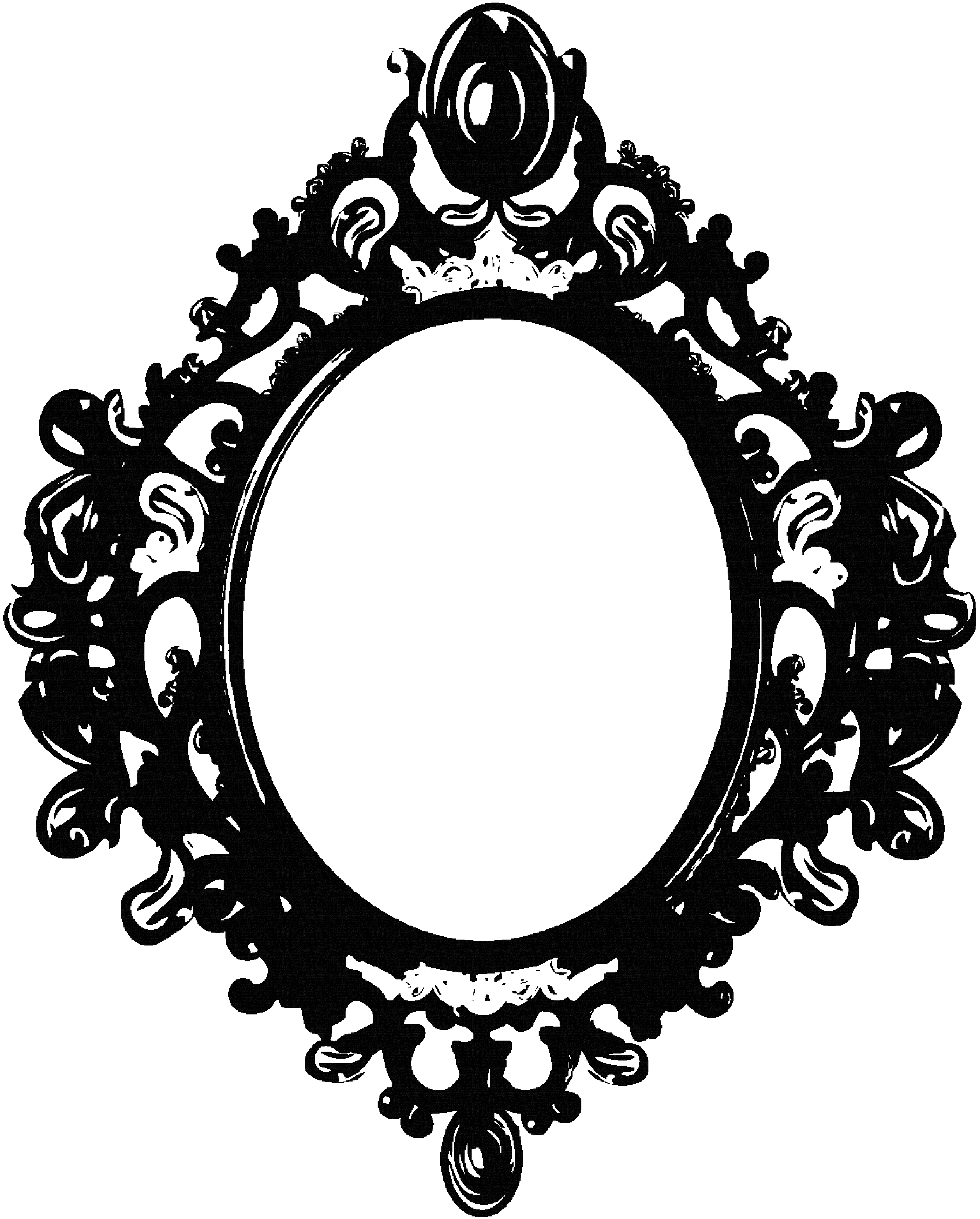Decor vector ornate mirror. Black frame by berrykissed