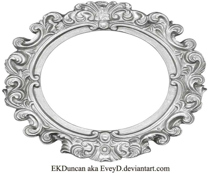 Decor vector ornate mirror. Download free png silver