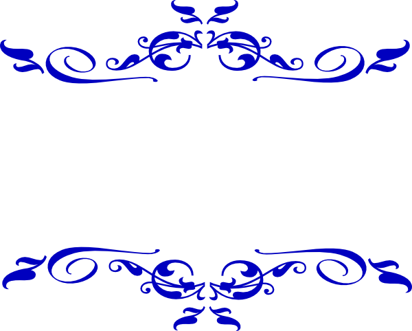 Decor vector royal. Blue border design funf