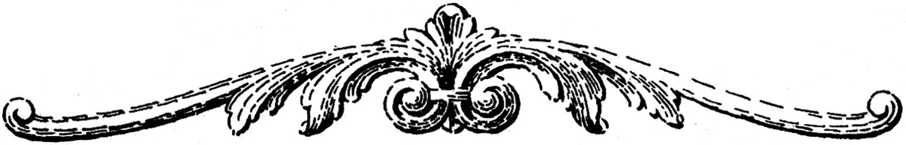 Decoration clipart. Black and white molding