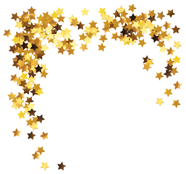 Pink and gold confetti png. Stars decoration clipart picture