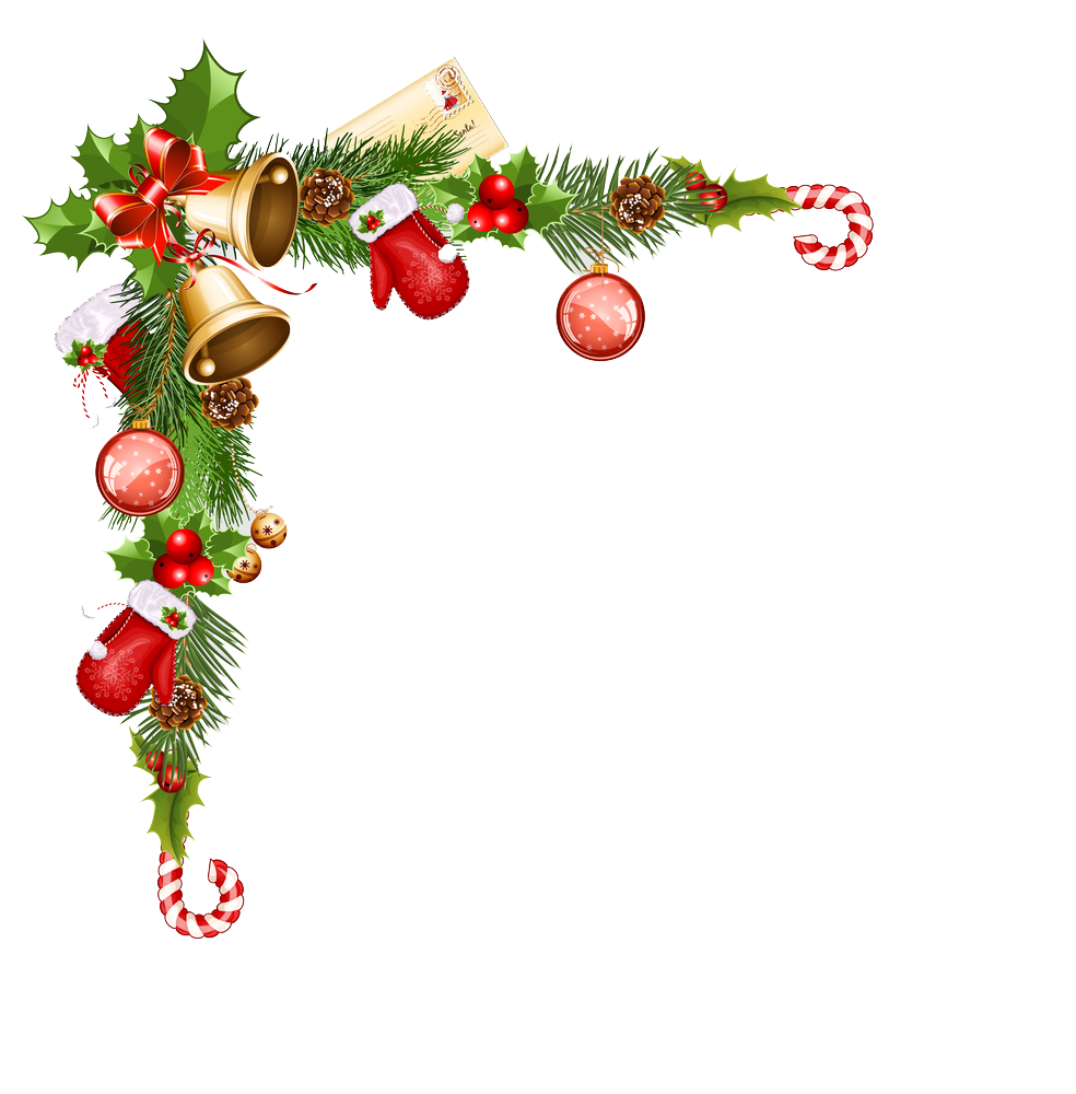 Christmas ornaments border png. File vector clipart psd