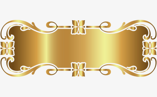 Decorative frame golden png. Decoration clipart gold decoration png royalty free