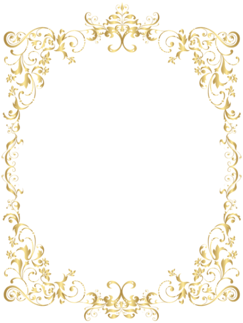 Decoration clipart gold decoration. Download border decorative frame