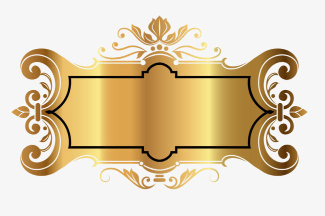 Decoration clipart gold decoration. Decorative frame golden png