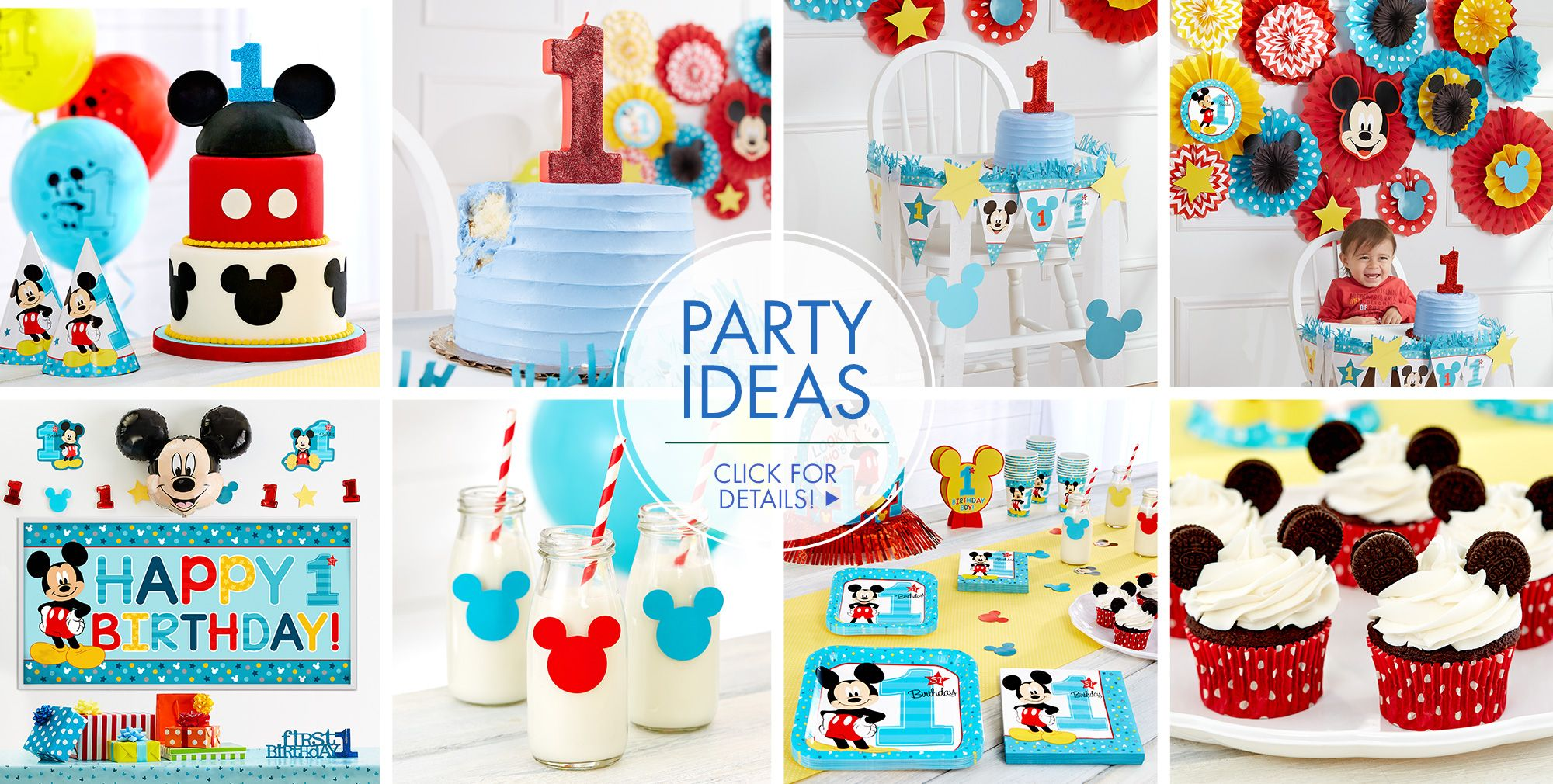 Decoration clipart party item. Mickey mouse st birthday