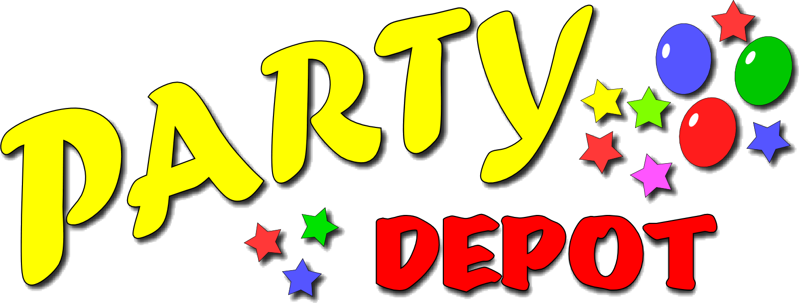 Decoration clipart party item. Birthday supplies costumes decorations
