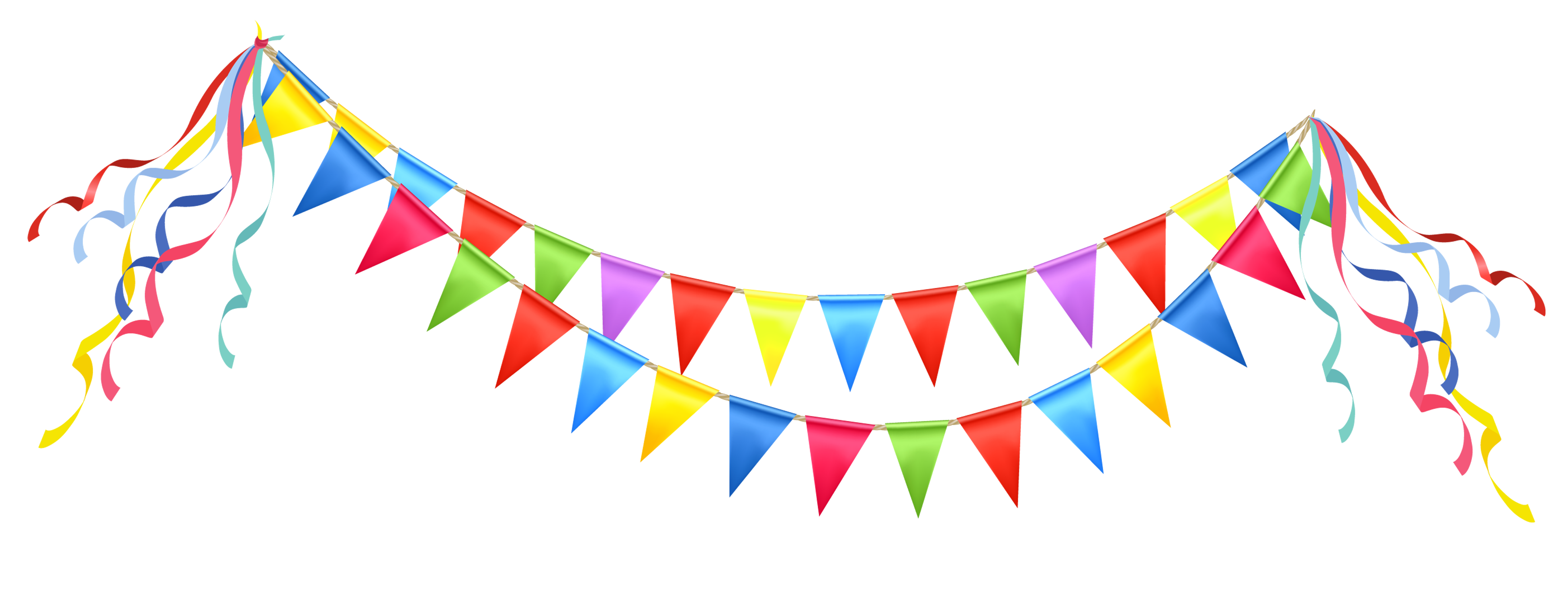 streamers vector birthday item