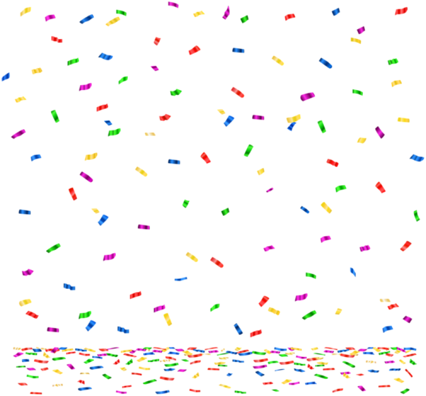 Decorations clipart confetti. Download png images background