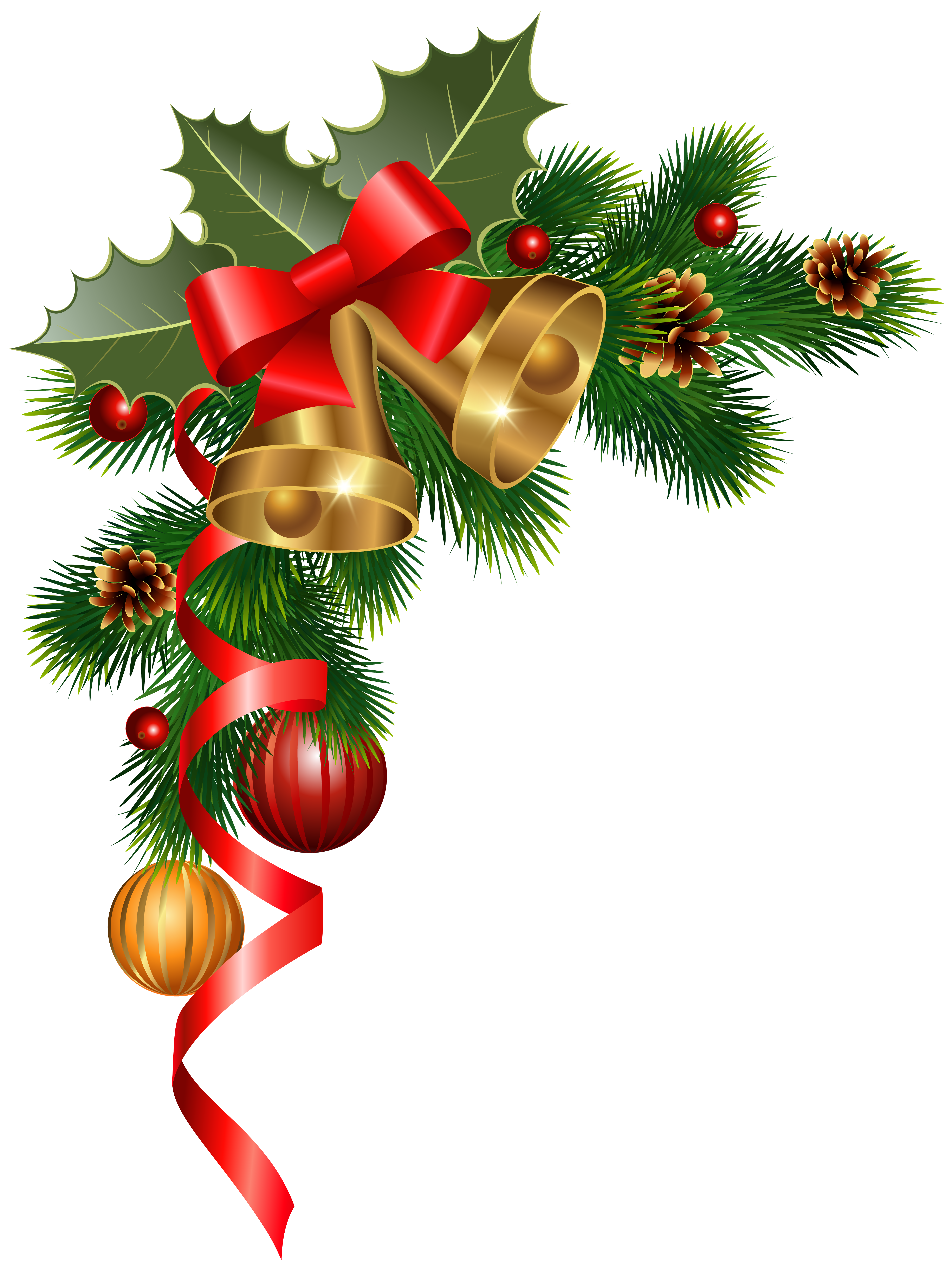 Christmas clipart corner. Decoration png image gallery