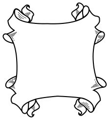 Decorations clipart scroll. Free frames pinterest filing