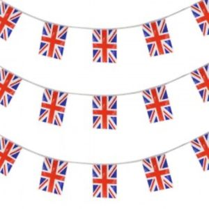 Decorations clipart street party. Union jack flag bunting