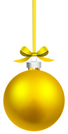 Ornaments clipart yellow ornament. Gold christmas decoration ball