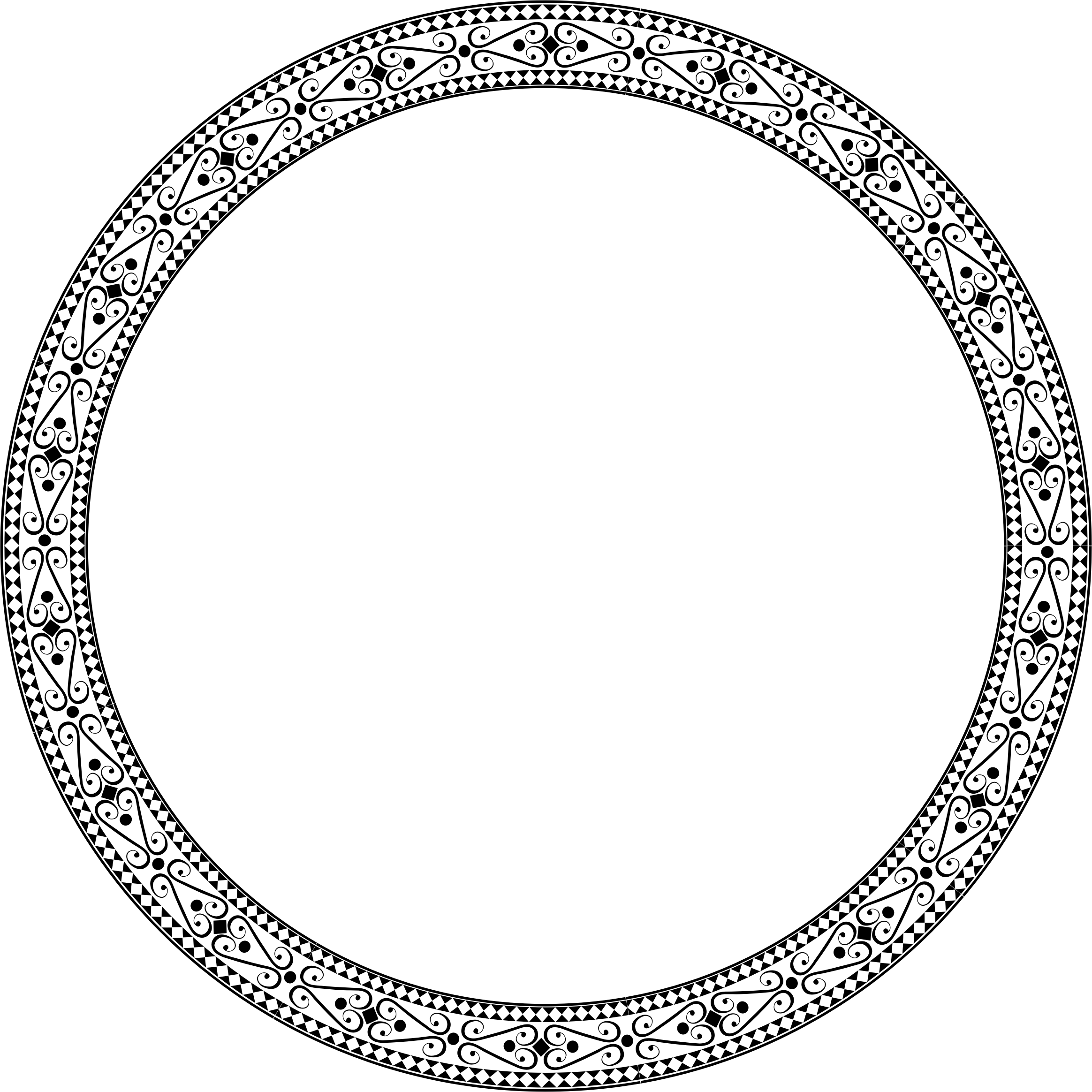 Decorative circle png. Ornamental round frame icons