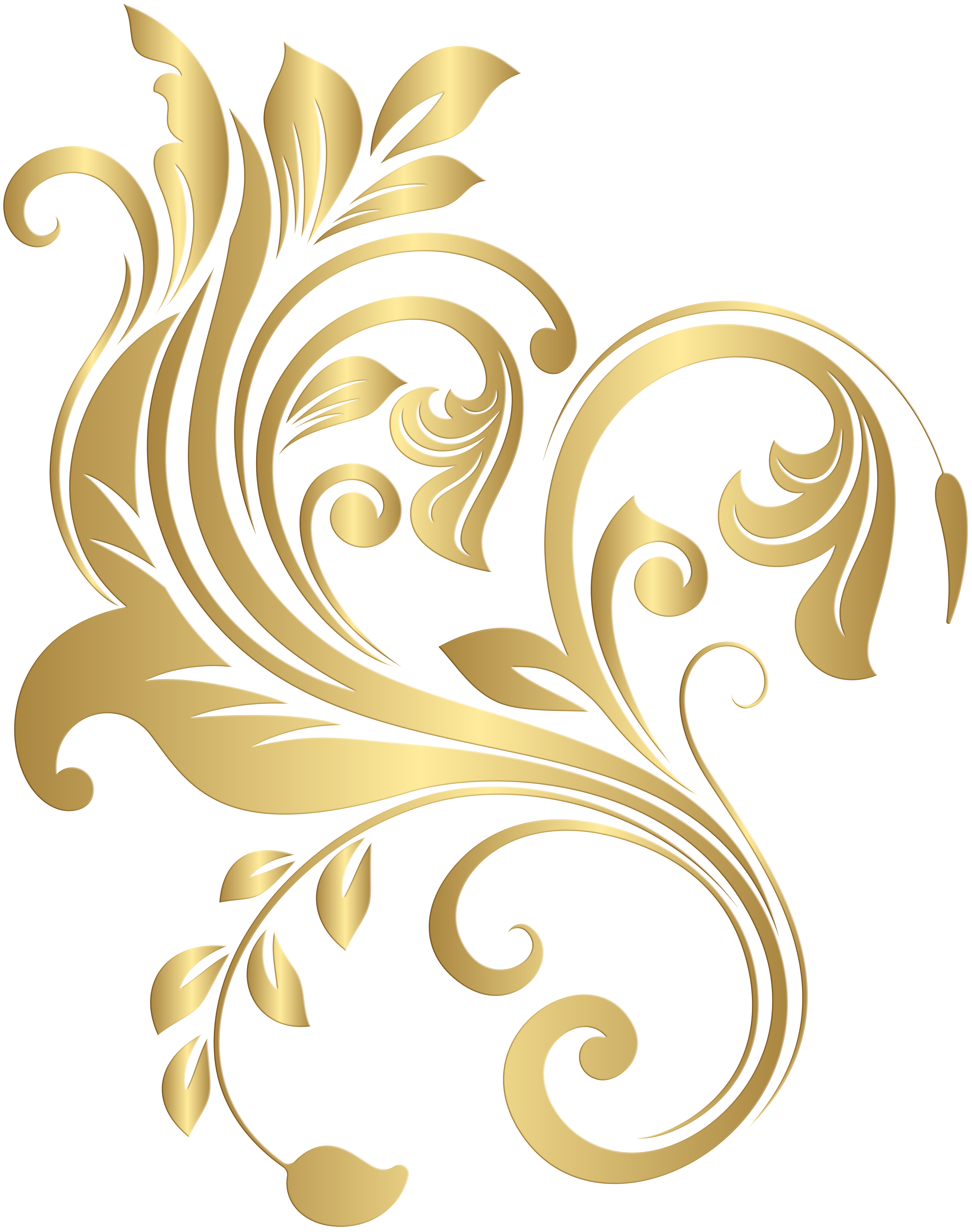 Decorative clipart decorative element. Gold png clip art