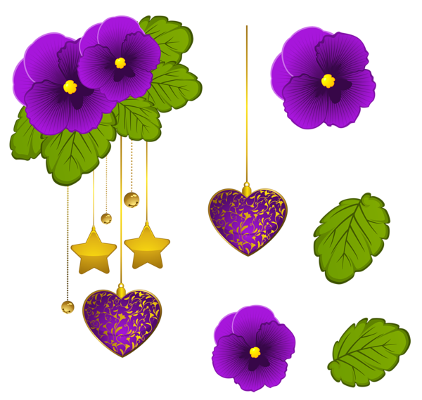 Decorative clipart decorative element. Purple violets png mutfak