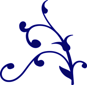 Decorative clipart scroll. Navy free