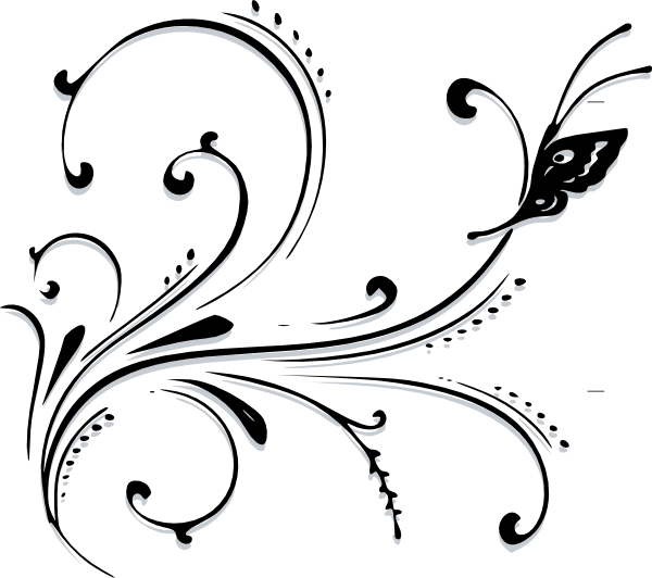 Filigree clipart scrollwork. Free decorative scroll download