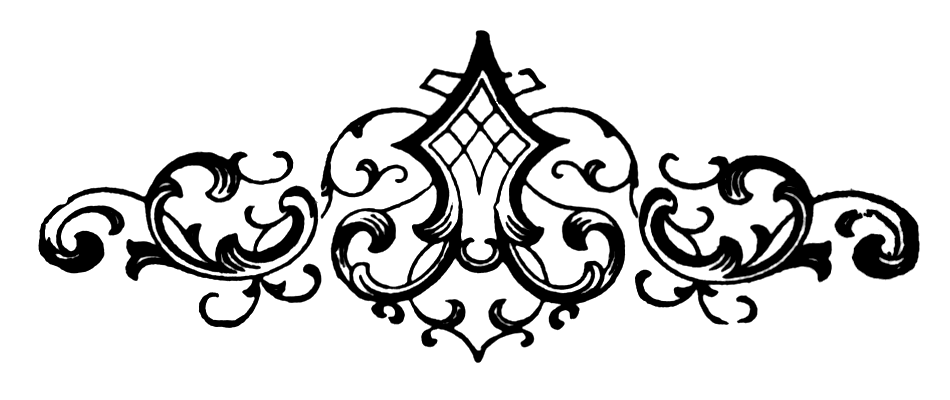 Decorative clipart scroll. Vintage snips and clips