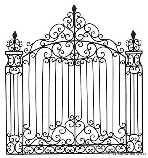 Decorative clipart wrought iron. Best cong tuong