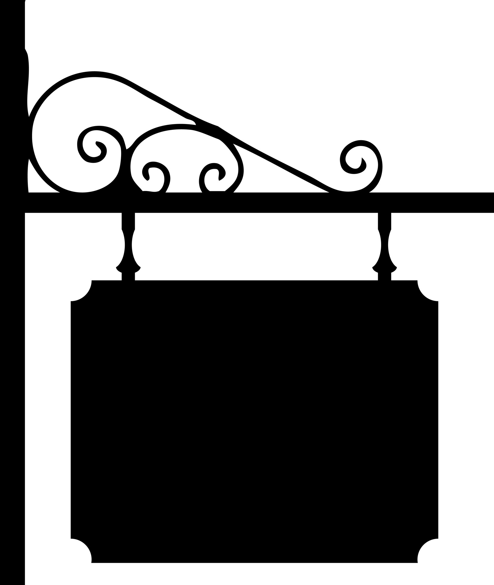 Decorative clipart wrought iron. Sign free stock photo
