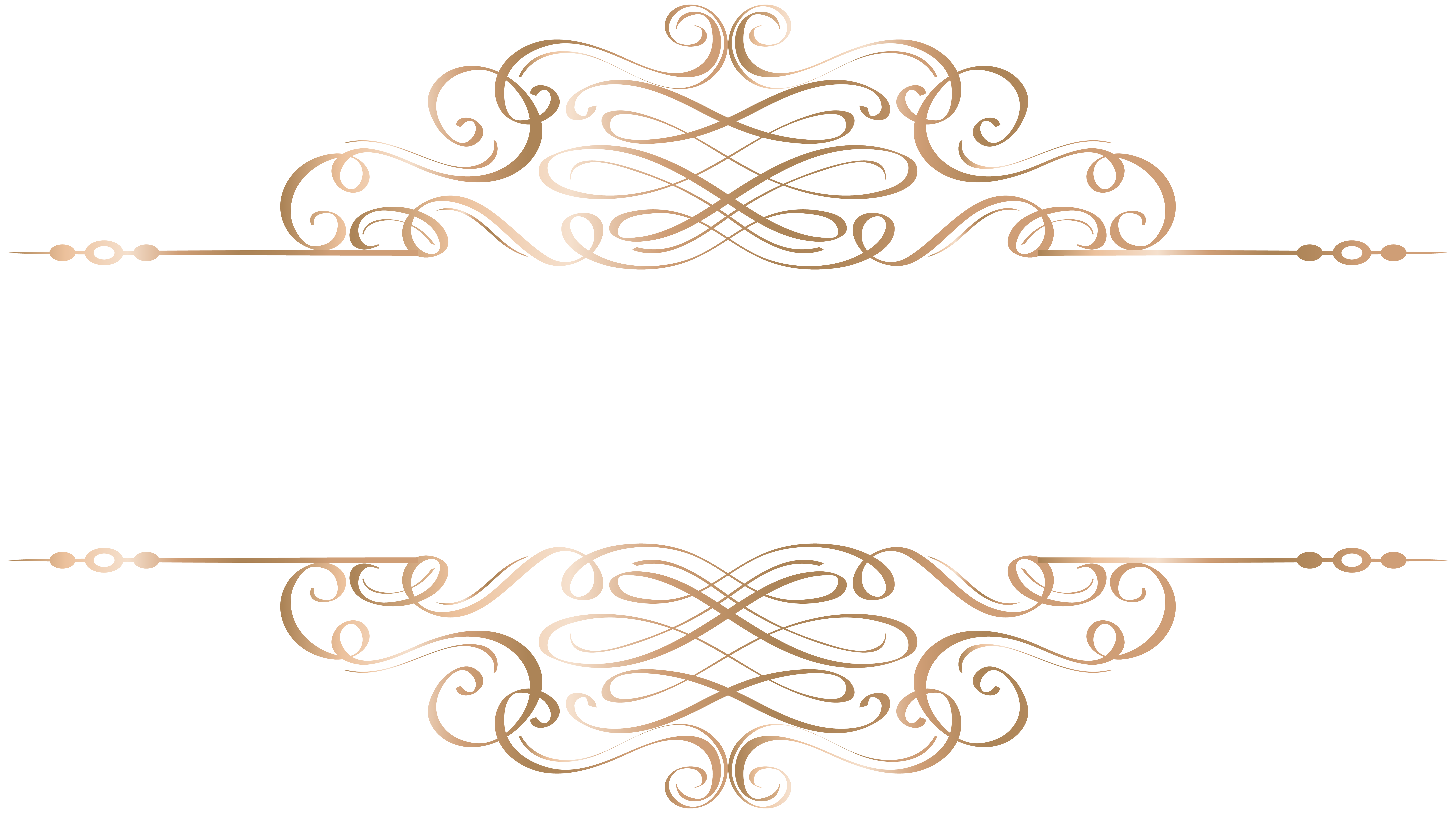 Decorative gold line png. Deco element clip art