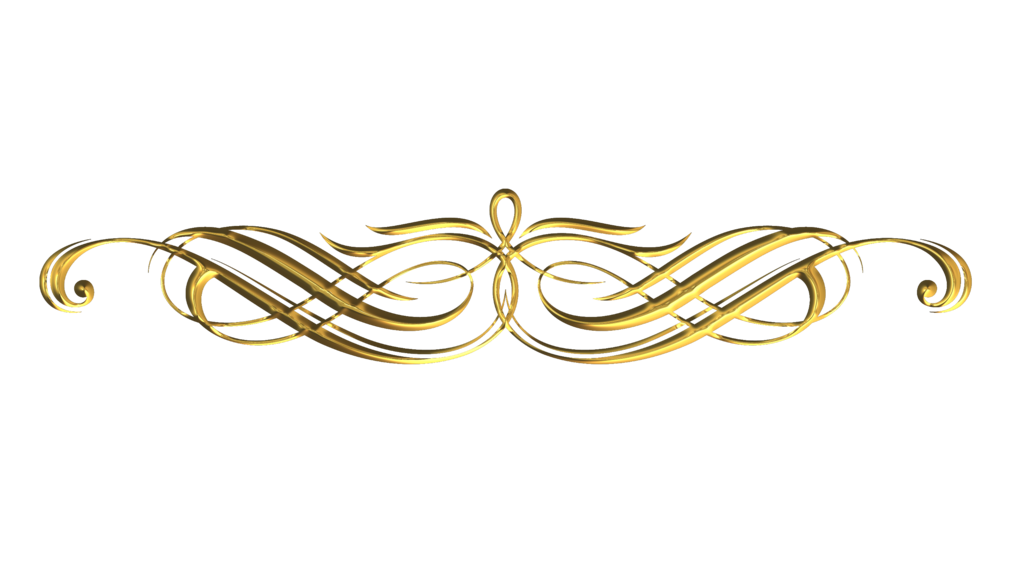 Decorative gold line png. Silver metal arts hobby