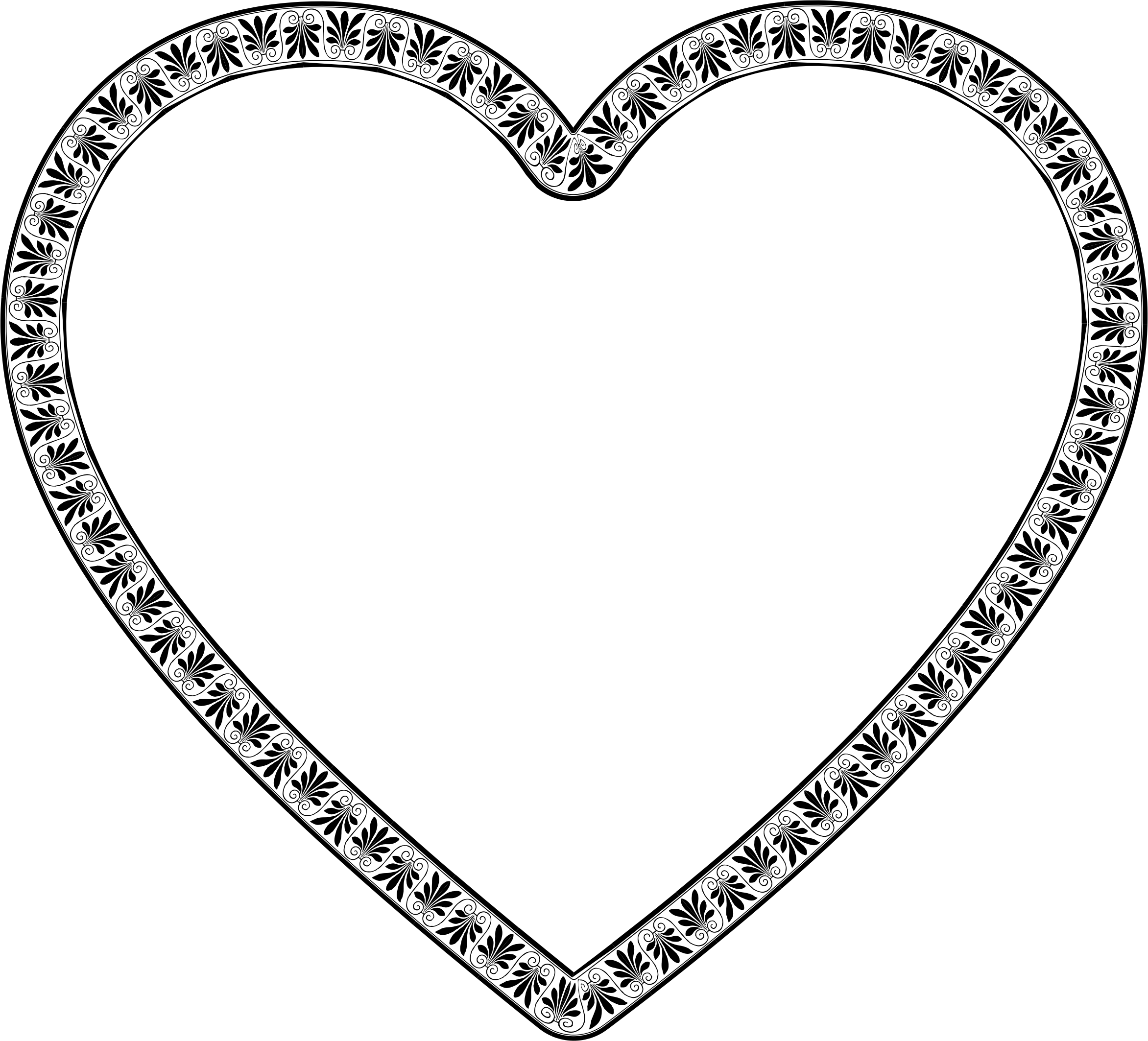 Decorative heart png. Flourish icons free and