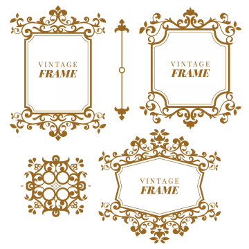 Decorative vintage frame vector png. Victorian images vectors and