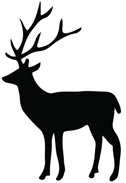 Transparent clip art image. Deer antlers silhouette png clipart black and white library