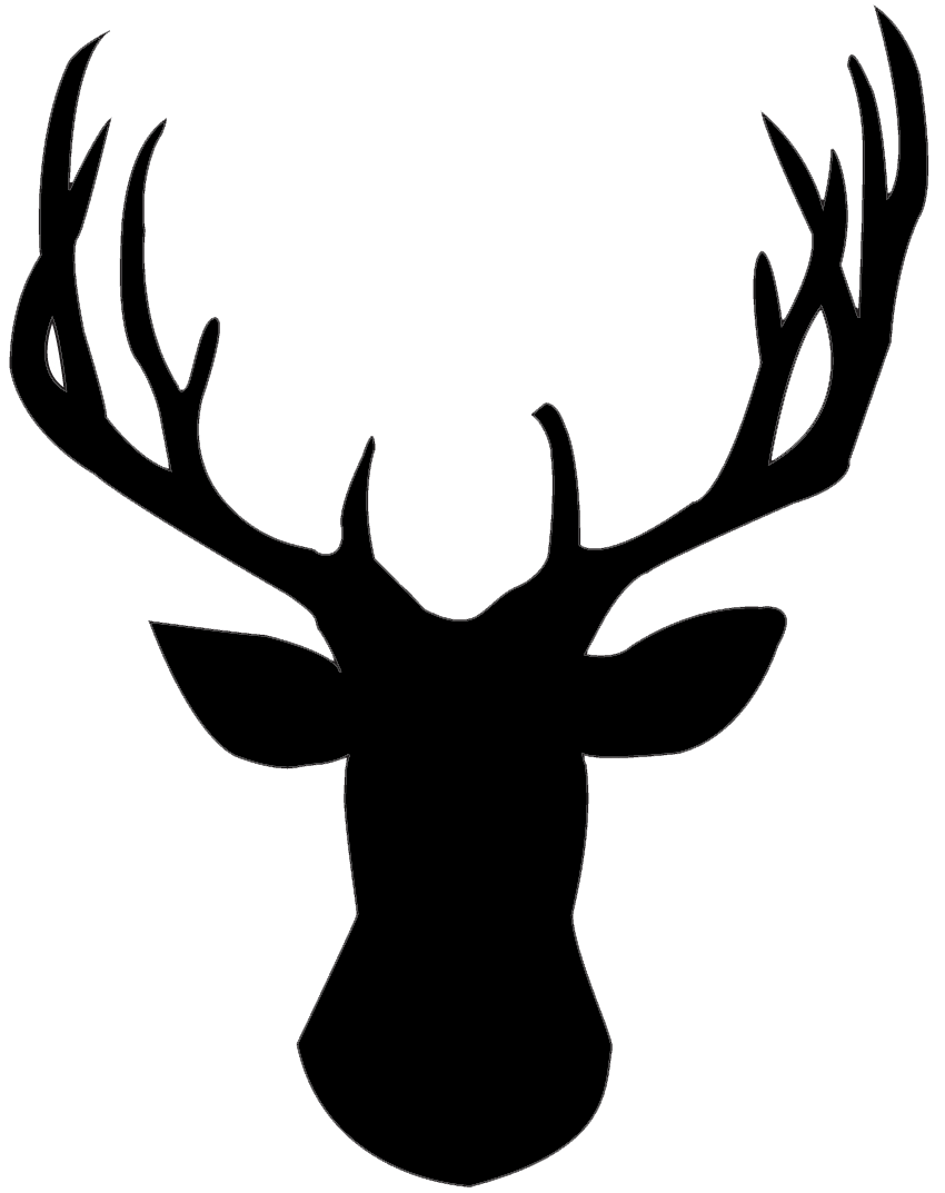 Deer antlers silhouette png. Use this for the