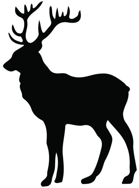 Stag transparent clip art. Deer antlers silhouette png banner freeuse library