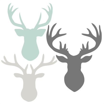 Head set svg scrapbook. Deer antlers with bow silhouette png clip freeuse library
