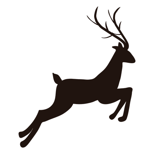Reindeer jumping transparent svg. Deer antlers with bow silhouette png png transparent library