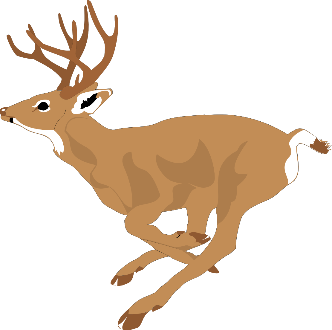 Stag vector stylized. Deer clipart free at
