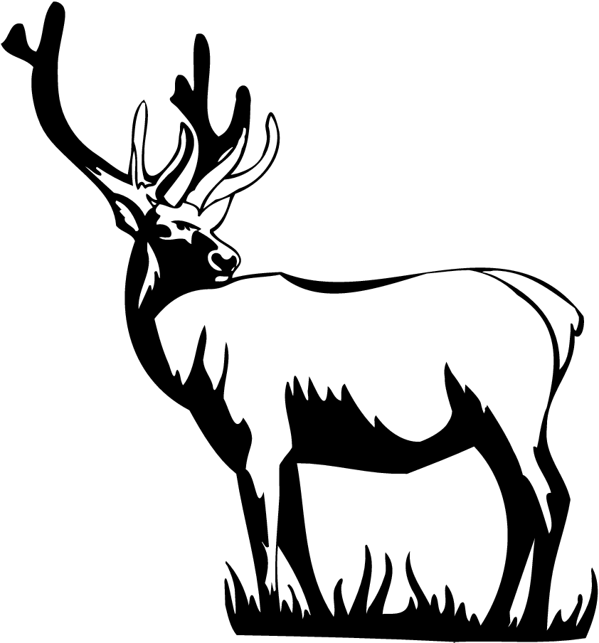 Harley davidson clipart black and white. Free deer silhouette at