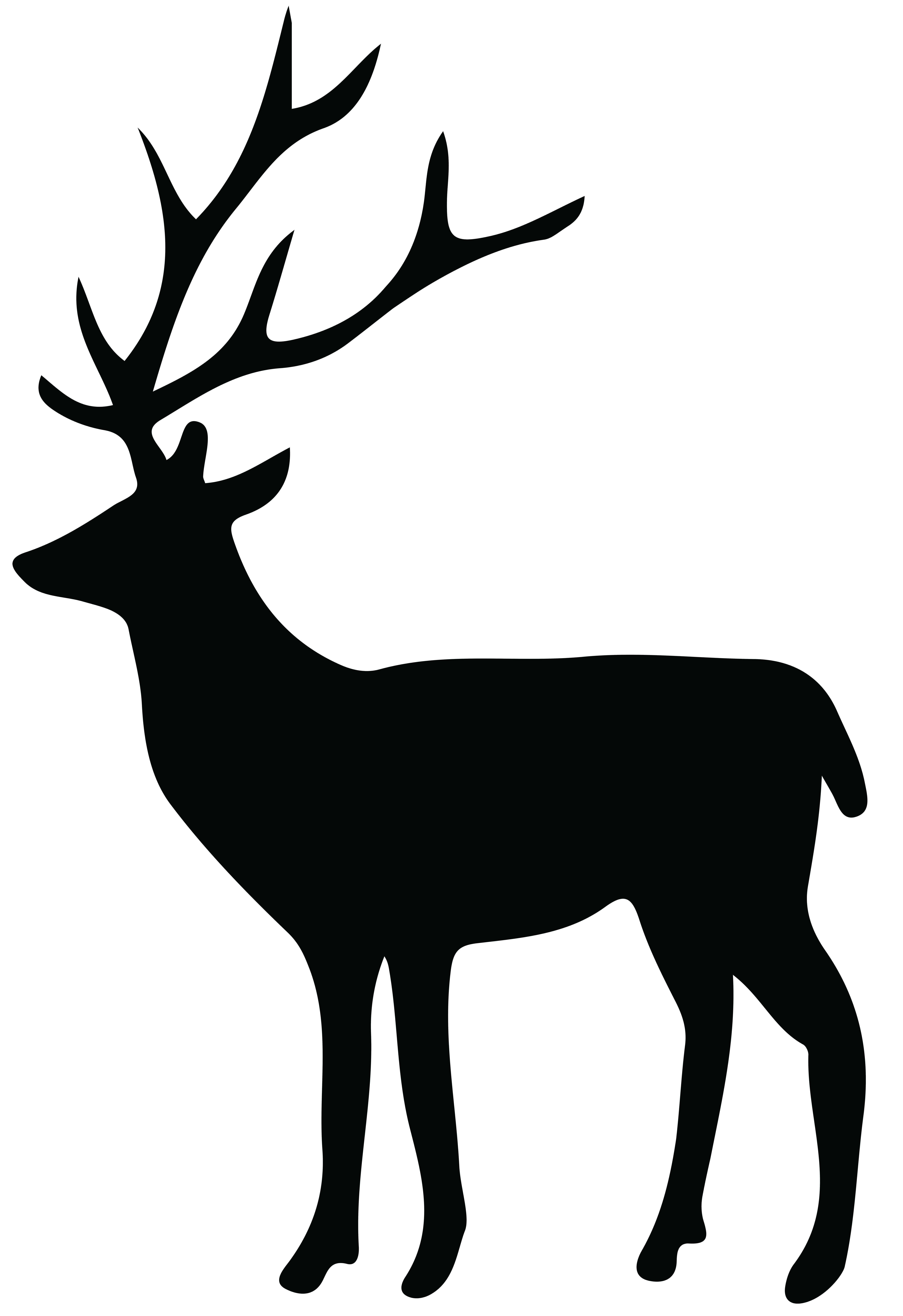 deer antlers with bow silhouette png