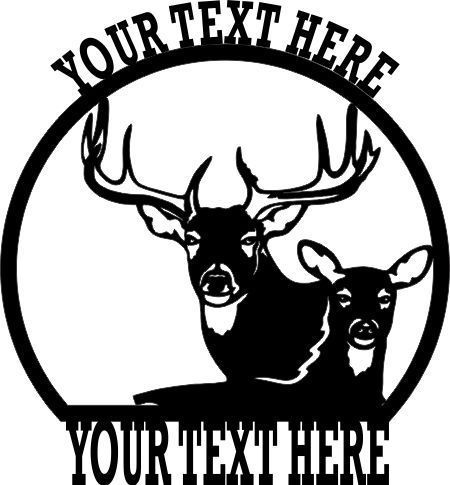 Deer clipart scenery. Personalized buck welcome sign