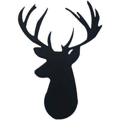 Deer head png. Wall emblem sporthooks black