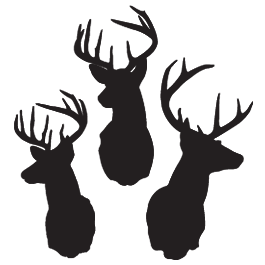 Deer head silhouette png. Reindeer wall decals stuff