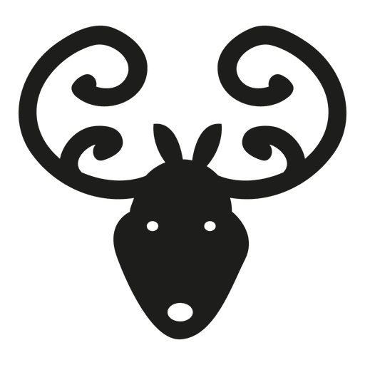 Deer head silhouette png. Icon transparent svg vector