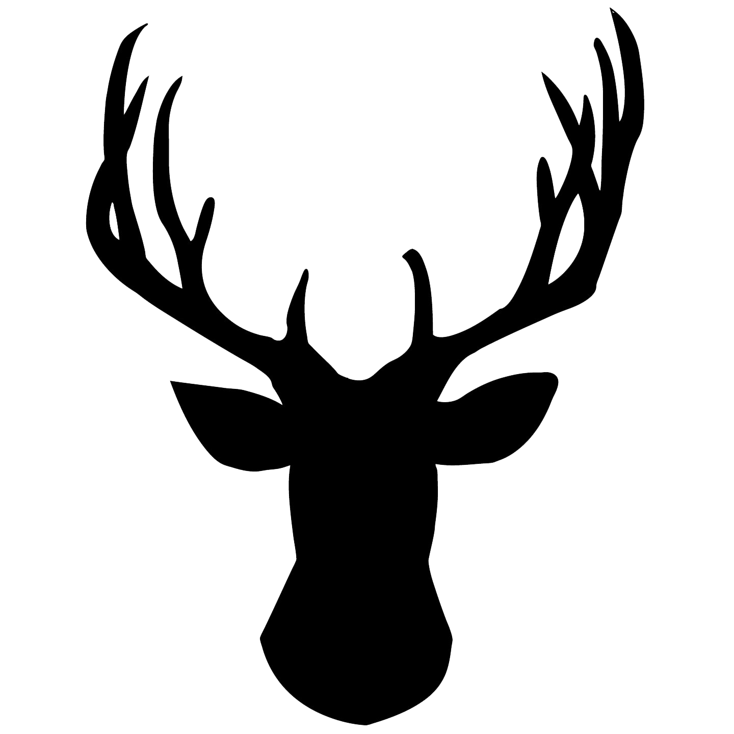 Deer head silhouette png. Images transparent free download