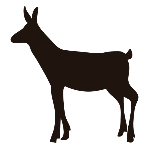 Deer silhouette transparent png. Doe vector svg black and white
