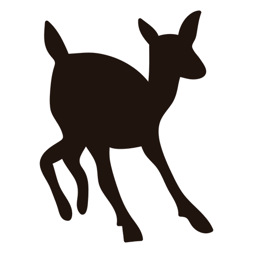 Deer silhouette transparent png. Doe vector clip freeuse stock